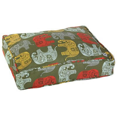 Elephant Parade Dog Bed Cover Size: Small (27 W x 22 D )