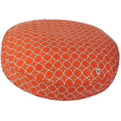 Title Track Dog Pillow Color: Orange