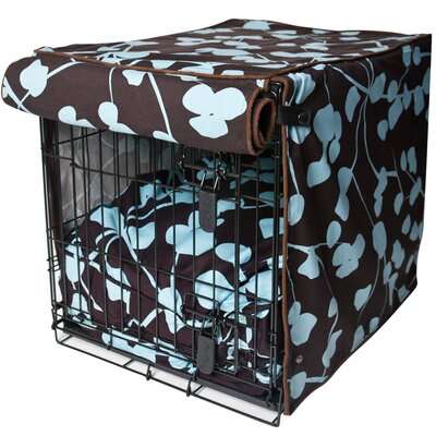 Kurt Your Hand In Mine Dog Crate Cover Size: 31 H x 28 W x 42 D
