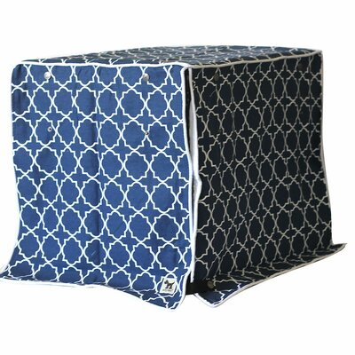 Jitterbug Crate Cover Color: Navy, Size: 24 H x 21 W x 30 D