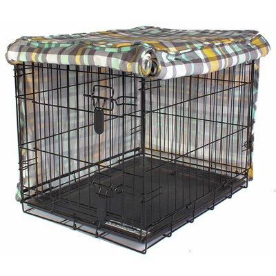Kurt Northwestern Girls Dog Crate Cover Size: 31 H x 28 W x 42 D