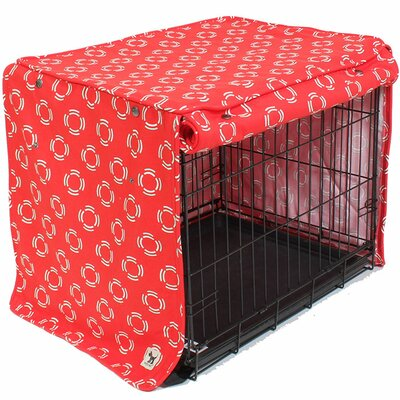 Kurt Lady in Red Dog Crate Cover Size: 21 H x 18 W x 24 D