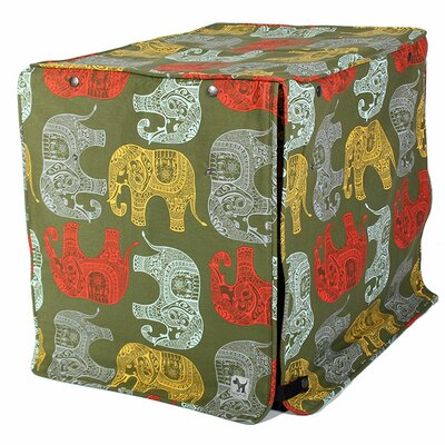 Kurt Elephant Parade Dog Crate Cover Size: 33 H x 30 W x 48 D