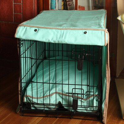 Kurt Nightswimming Dog Crate Cover Size: 31 H x 28 W x 42 D