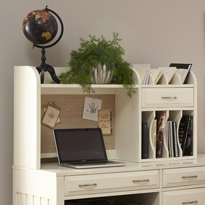 Hampton Bay 23 H x 44 W Desk Hutch Finish: Antique White