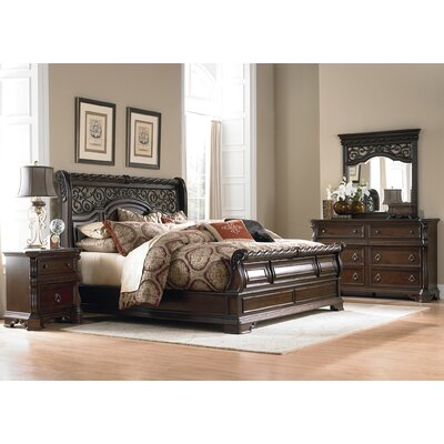 Arbor Place Sleigh Headboard Size: King
