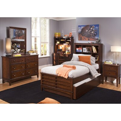 Liberty Furniture Chelsea Square Youth Bedroom Bookcase Headboard in Burnished Tobacco - Size: Full