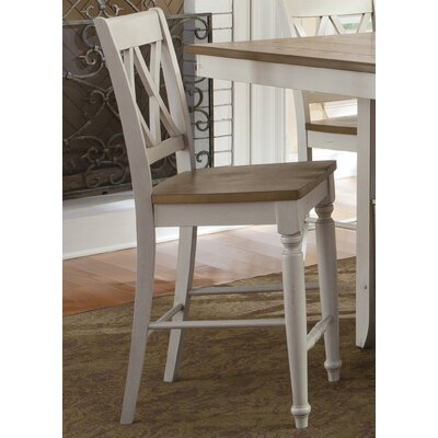 Al Fresco 23.5 Bar Stool (Set of 2) Frame Finish: Sand