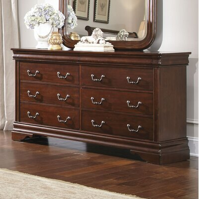 Carriage Court 6 Drawer Standard Dresser