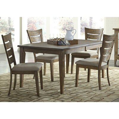 Pebble Creek I Leg Dining Table Table Finish: Weathered Butterscotch