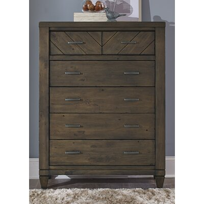 Modern Country 6 Drawer Dresser