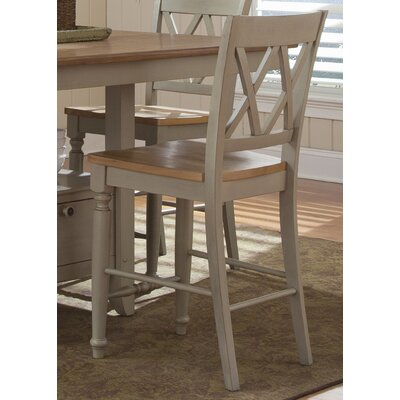 Al Fresco 23.5 inch Bar Stool (Set of 2) Frame Finish: Taupe