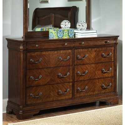 Abe 8 Drawer Double Dresser with Mirror