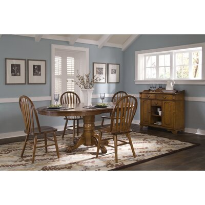 Libertyfurniture nostalgia casual 5 piece oval small for Small casual dining sets