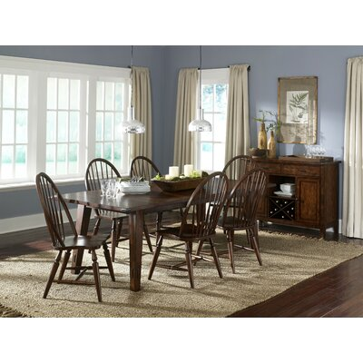 LibertyFurniture Cabin Fever Formal Rectangular Leg Dining Table in Bistro Brown Best Price