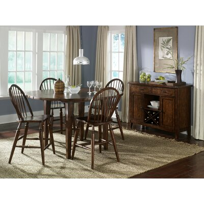 LibertyFurniture Cabin Fever Formal 5 Piece Drop Leaf Pub Table Set in Bistro Brown Best Price