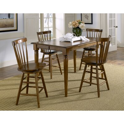 LibertyFurniture Creations II Casual 5 Piece Gathering Dining Table Set in Tobacco Best Price