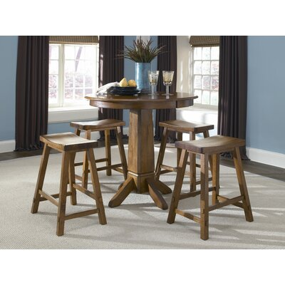 LibertyFurniture Creations II Casual Dining 5 Piece Pub Table Set in Tobacco Best Price