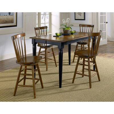 LibertyFurniture Creations II Casual 5 Piece Gathering Dining Table Set in Black Best Price