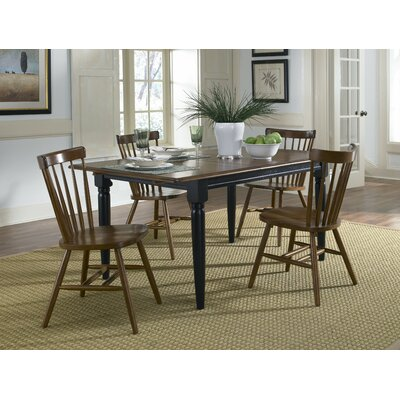 LibertyFurniture Creations II Casual 5 Piece Butterfly Leaf Dining Set in Black and Tobacco Best Price
