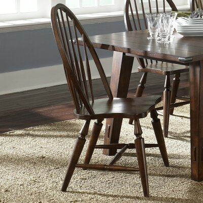 LibertyFurniture Cabin Fever Formal Dining Windsor Back Side Chair in Bistro Brown Best Price