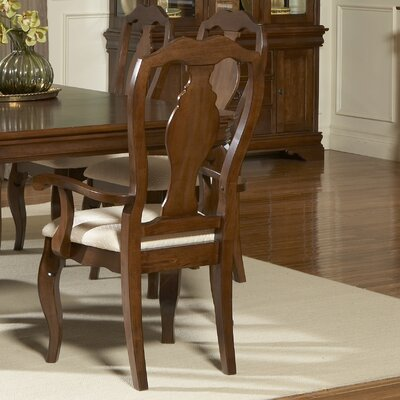 LibertyFurniture Louis Philippe Formal Dining Slat Back Arm Chair in Cherry Best Price