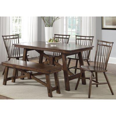 LibertyFurniture Creations II Casual Rectangular Leg Dining Table in Tobacco Best Price