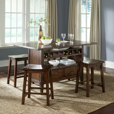 LibertyFurniture Cabin Fever Formal Center Island Dining Table in Bistro Brown Best Price