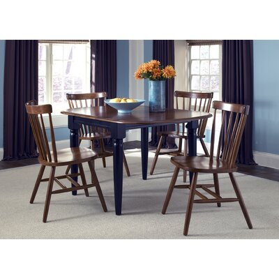 LibertyFurniture Creations II Casual Drop Leaf Dining Table in Black and Tobacco Best Price
