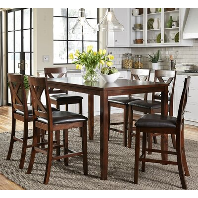 Nadine 7 Piece Pub Table Set