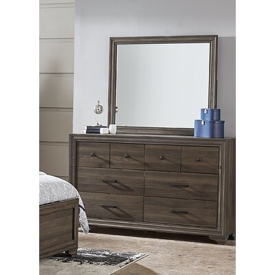 Balnamore 8 Drawer Double Dresser with Mirror
