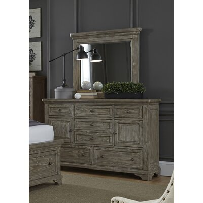 Barkell 7 Drawer Combo Dresser with Mirror