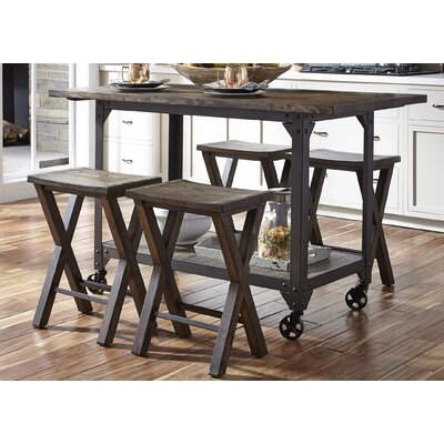 Donovan 5 Piece Kitchen Island Set