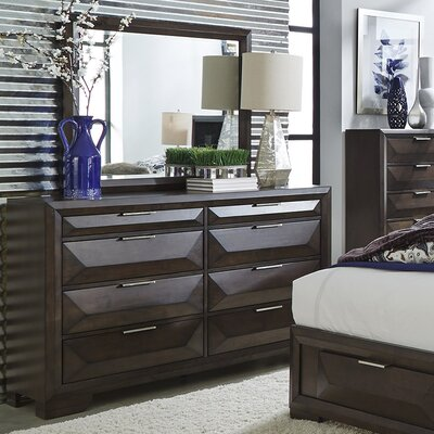 Callimont 8 Drawer Double Dresser with Mirror
