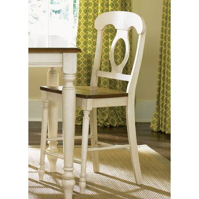 Low Country Dining 24 Bar Stool (Set of 2) Finish: Linen Sand and Suntan Bronze