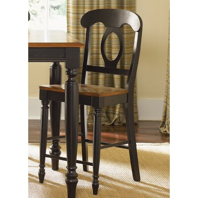Low Country Dining 24 Bar Stool (Set of 2) Finish: Anchor Black and Suntan Bronze