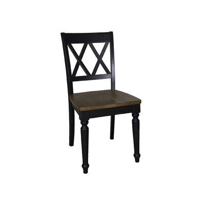 Al Fresco Side Chair (Set of 2) Finish: Black