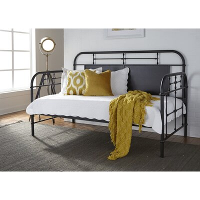 Weinstein Twin Metal Daybed Color: Black, Accessories: Without Trundle