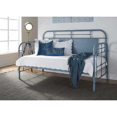 Weinstein Twin Metal Daybed Color: Blue, Accessories: Without Trundle