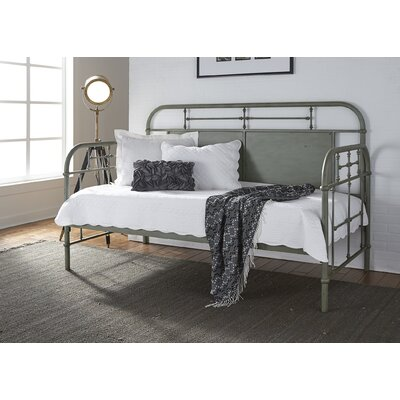 Weinstein Twin Metal Daybed Color: Green, Accessories: Without Trundle