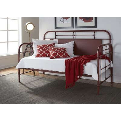 Weinstein Twin Metal Daybed Color: Red, Accessories: Without Trundle