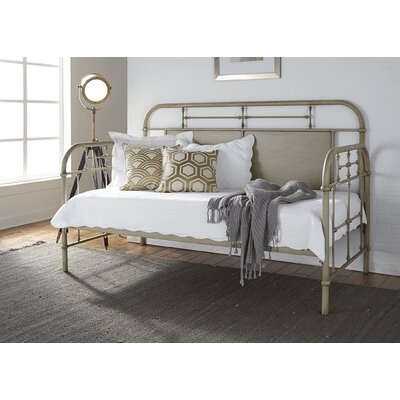 Weinstein Twin Metal Daybed Color: Antique White, Accessories: Without Trundle