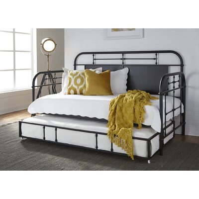 Weinstein Twin Metal Daybed Color: Black, Accessories: With Trundle