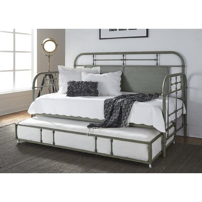 Weinstein Twin Metal Daybed Color: Green, Accessories: With Trundle