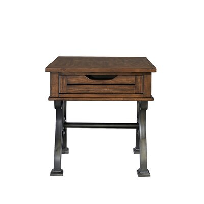 Vernell Drawer End Table