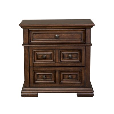 Allie 3 Drawer Nightstand