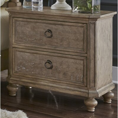 Grube 2 Drawer Nightstand