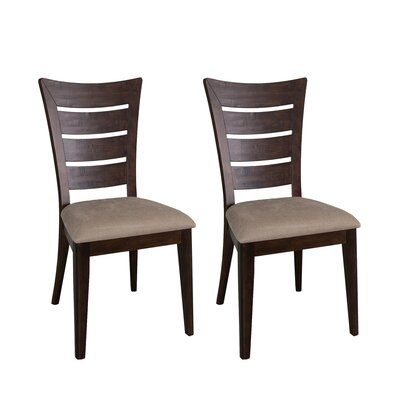 Pebble Creek I Side Chair (Set of 2) Finish: Weathered Tobacco