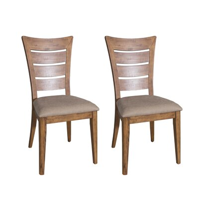 Pebble Creek I Side Chair (Set of 2) Finish: Weathered Butterscotch