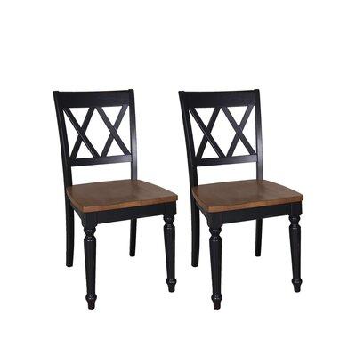 Al Fresco Side Chair (Set of 2) Finish: Black